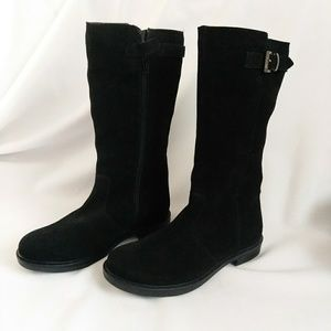 Land's End Black suede boots